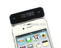 OEM Wireless Low-power FM Radio Transmitter For Mobilephones/Music player With 3.5mm Audio Jack