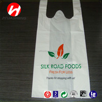 cheap price Screen Printing Surface Handling and HDPE Plastic Type Plastic T-shirt bag