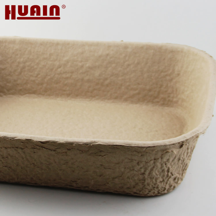 Disposable Molded Pulp Cat Litter Box Tray
