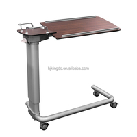 Hospital Dining Table, Over Bed Table with Wheels, Hospital Bedside Tables