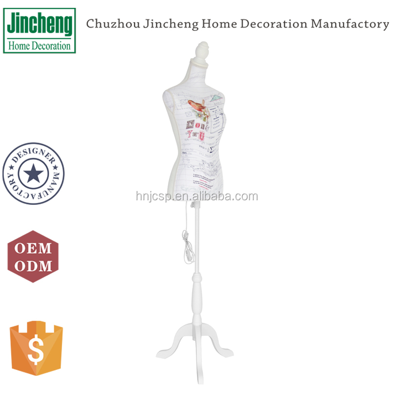Led light beautiful pattern movable mannequin for sale