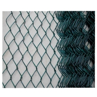 Factory Supply 8 feet pvc coated chain link fencing / 6 foot black chainlink mesh