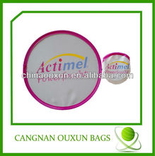 Wholesale mini advertising promotional soft foldable nylon frisbee fan