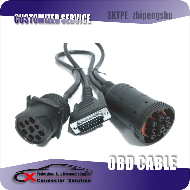 DB15P Male To CMI J1939 9P HD10-9-1939P+HD16-9-1939SE Cable