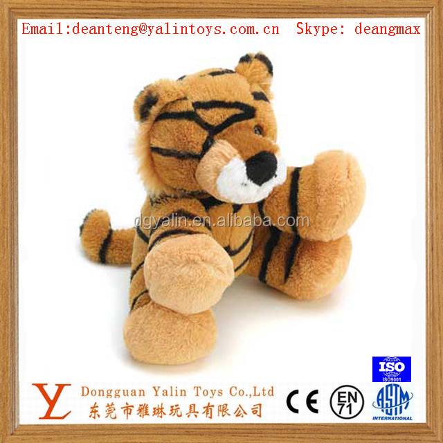 Eco-friendly stuffed live animal toy plush mini cute tiger for kids