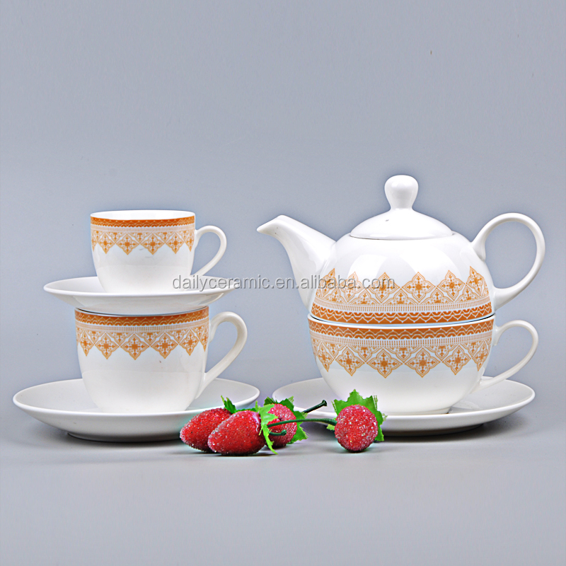 Hunan ceramic manufacturer 2016 best seller Irregular shape Porcelain Tea Set Ceramic coffee set