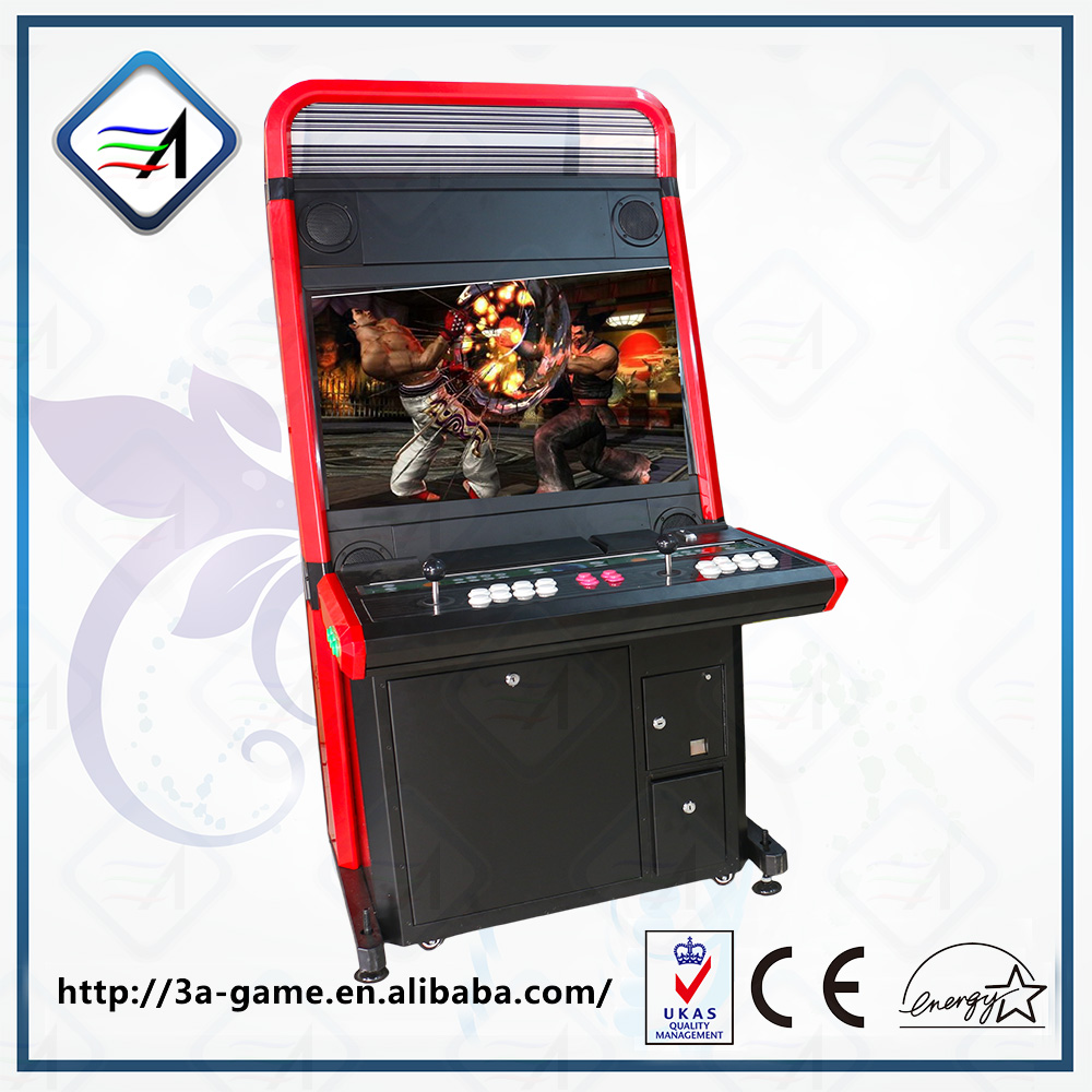 "Coin operated 32"" LCD Simulator Arcade machine console cabinet fighting video game"