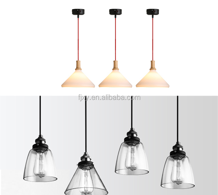 Pathson Industrial Simple Style Hanging Lamp Fixture with Oval-shaped Clear Glass Shade Pendant Vintage Lamp Factory