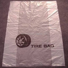 disposable custom size printing plastic tire bags for tyre packaging