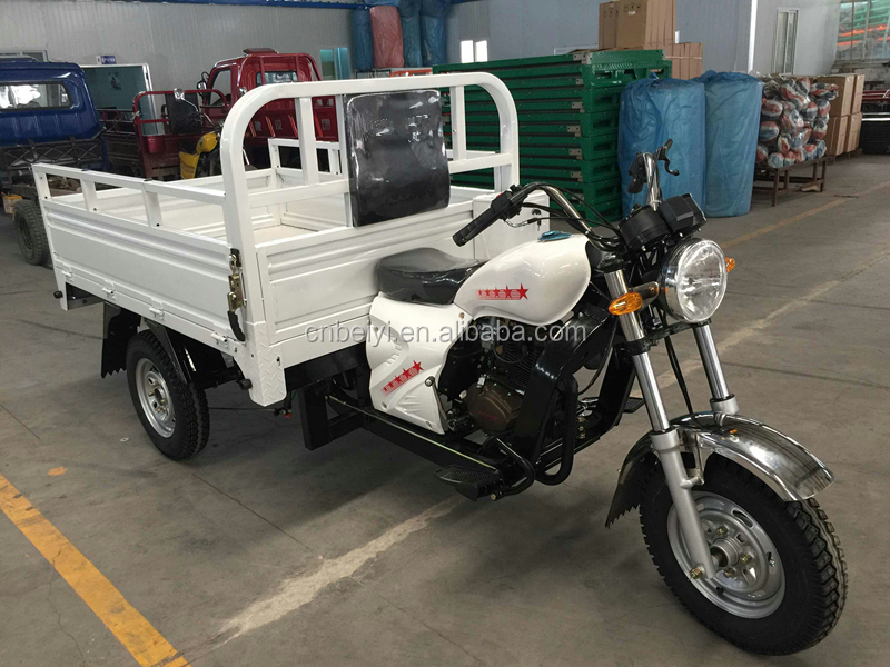 high quality air cooled petrol 150cc farming adult tricycle