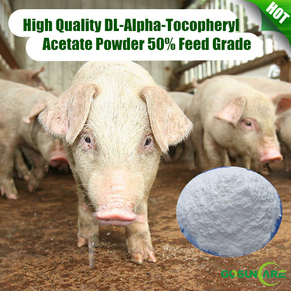 High Quality DL-Alpha-Tocopheryl/ Vitamin E Acetate Powder 50% Feed Grade Synthesis