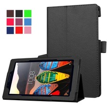 pu flip leather case for lenovo tab3 7 essential 710f leather cover
