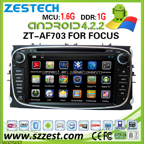 ZESTECH wholesale OEM car dvd android for Ford Fucus/Mondeo android 4.4.4 car dvd player with bluetooth 3g wifi