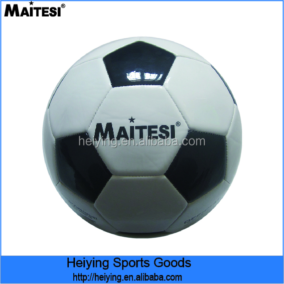 Maitesi brand black and white cow leather football
