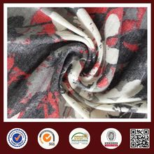 Feimei Polyester Rayon knitted single printing jersey fabric