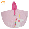 Unique Design Cute Kids Color PVC Poncho