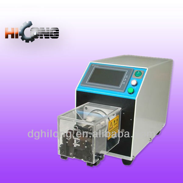 Cable stripping machine for coaxial, triaxial, multi-conductor cable and single conductor wire