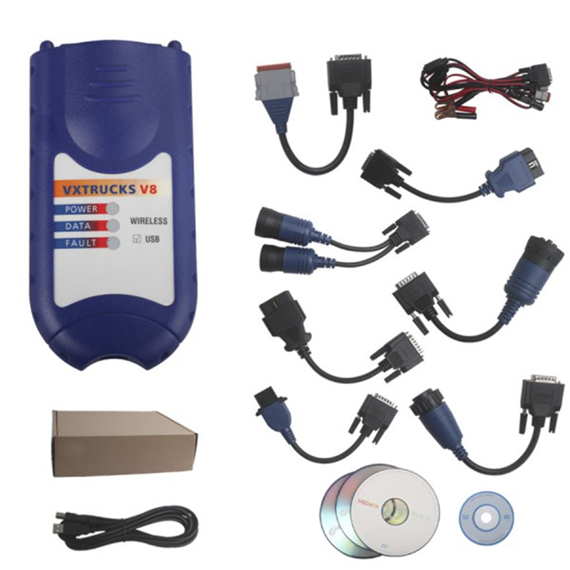 Newest arrival nexiq 125032 usb link Light Truck Diagnostic scanner Nexiq Truck diagnostic Tool+Full cables