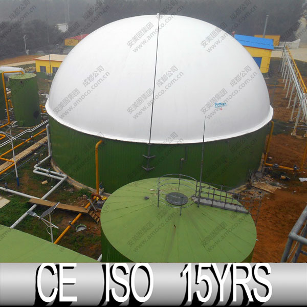 Biogas Double Membrane Gas Holder , Biogas Plant For Pig Farm