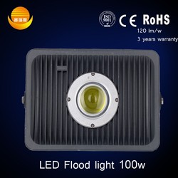led spotlight factory direct with high lumens outdoor ip65 cob 100watt led flood light with ce rohs