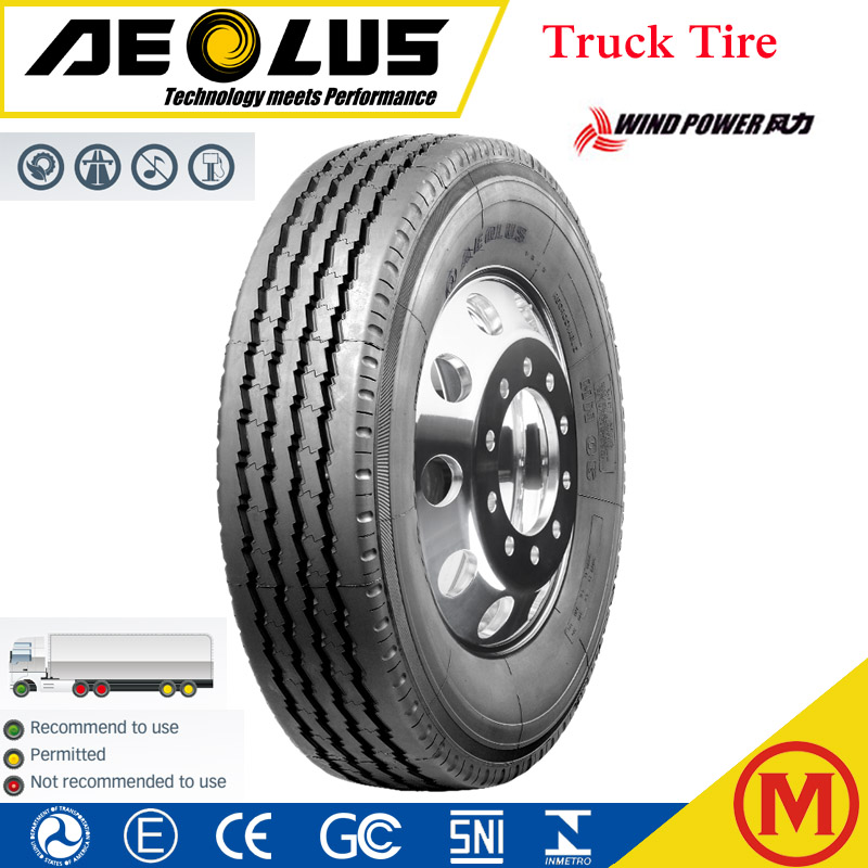 Wind Power & Aeolus brand truck tire 295/75R22.5 11R22.5
