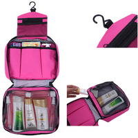 Travel foldable hanging toiletry makeup bag and cosmetic bag