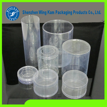 clear plastic cylinders and lids packaging rounded 50mm product and clear plastic tubes with end caps Containers made in China