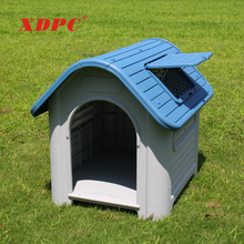 Commercial plastic rain cover cat dog house cage kennel for pet