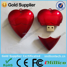 2015 Alibaba white heart shape usb flash drive, heart shape usb flash drive, jeweley white heart shape usb for Holiday gifts