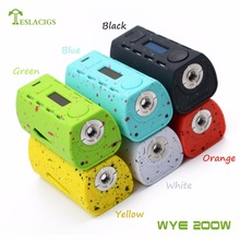 WYE 200w box mod is Tesla salable new products with Norm/Soft/Hard/User taste mode and ABS+PC material WYE 200w