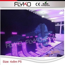 P5,P8,P10,P15,P18 LED curtain play full sexy movies led stage backdrop
