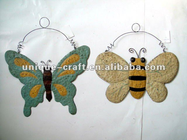 metal butterfly and honeybee decorative wall hanging