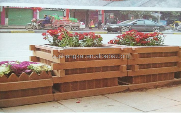 European style beatiful wpc flower box wood plastic composite box MADE IN CHINA WITH high quality