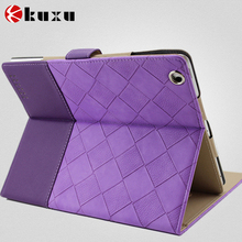 Hot selling magnetic smart leather flip case cover for ipad4 /3 /2 with stand , for ipad