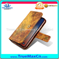 Promotion Magnetic Flip Wallet Cover Mobile Phone Leather Case With Card Slots for iPhone X