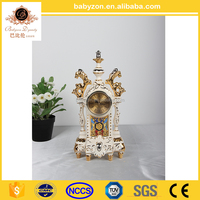 "Luxury Ceramic Wall 16.5"" Pendulum Clock,Antique Table Clock made in china"