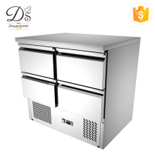 2018 Factory direct sale new stainless steel salad bar undercounter 4 door commercial refrigerator