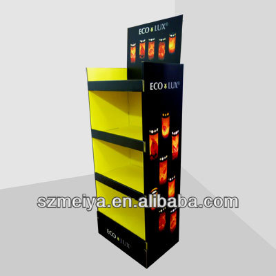 Rainbow color towel shelf /book display shelf for book/CD/magazine promotion,cardboard display books