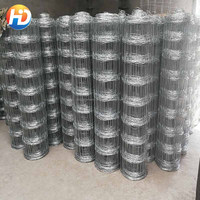 12.5 Gauge 8 feet hot dipped galvanized grassland field fence/galvanized wire mesh fencing