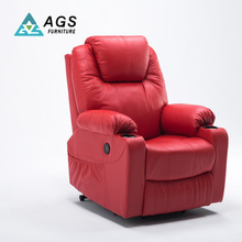 Newest Design Chesterfield Red Single Electric Recliner Sofa