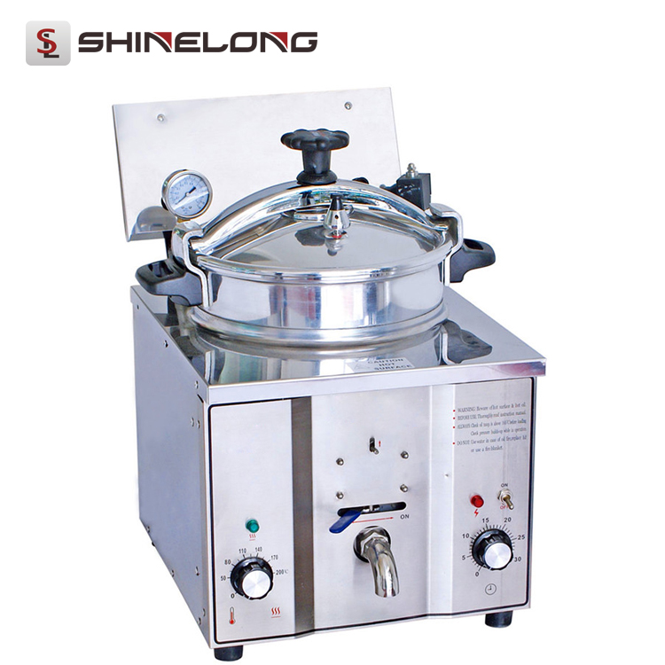 K535 Commercial Stainless Steel Electric KFC Counter Top High Pressure Fryer