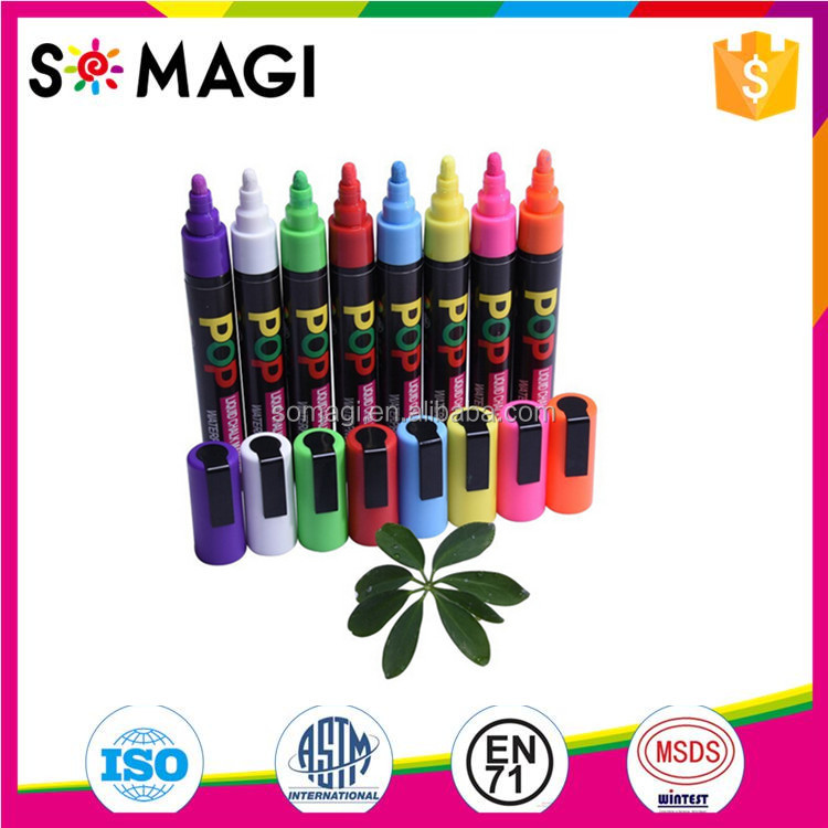 8 Pack Bright Colors Chalk Markers, Anti-wipe Wet Erase Marker whiteboard marker pen