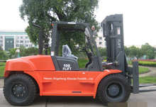 CE/EPA/GOST approval china new brand 10 ton diesel forklift/FD100
