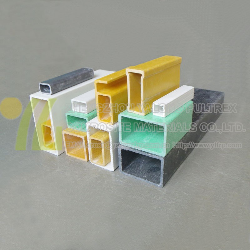 Fiberglass square rectangular box section hollow tube gfrp