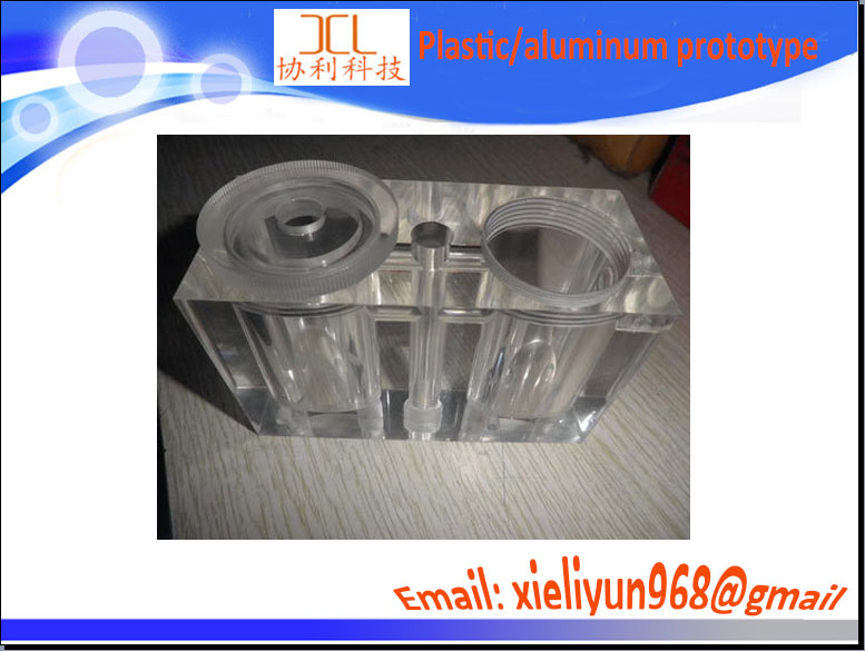 Supply radiator prototype transparent PC PMMA clear plastic/Vacuum casting Acrylic material transparent rapid prototype