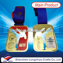 Durable Medal and Challenge Coins with Ribbon,hollow out taekwondo metal medal manufacturer