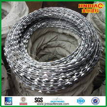 razor barbed wire roll pirce fence/razor wire (supplier)
