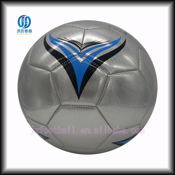 Silver laser leather foamed eva promotional gift football