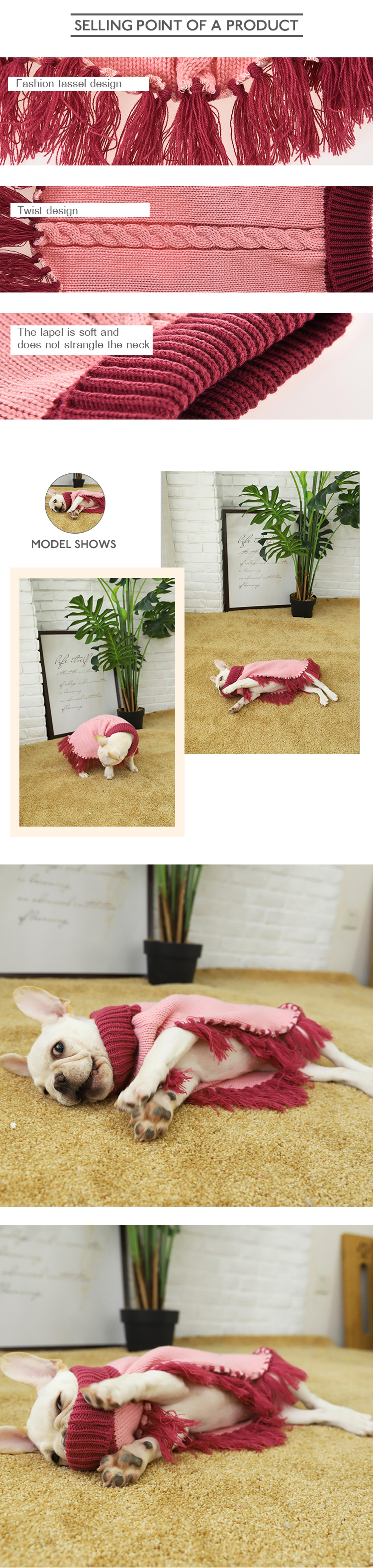 Tianyuan Pink Coat Sweater Cloth For Dog,Pet Dog Sweater For Reseller