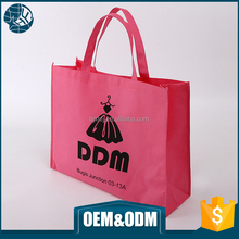 Best quality full color printing custom shopping non woven fabric tote bag